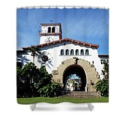Santa Barbara Courthouse -by Linda Woods Shower Curtain