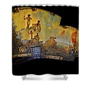Santa Barbara Hall Of Murals Shower Curtain