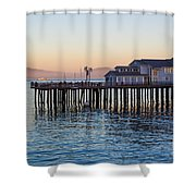 Santa Barbara Wharf At Sunset Shower Curtain