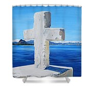 Santa Catarina's Cross Shower Curtain