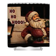 Santa Claus Christmas Card Shower Curtain