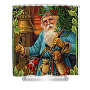 Santa Claus Ringing A Bell Shower Curtain
