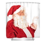 Santa Claus Waving Hand Shower Curtain