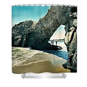 Santa Cruz Beach Arch Shower Curtain