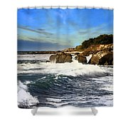 Santa Cruz Coastline Shower Curtain