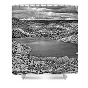 Santa Cruz Lake, New Mexico, April 18, 2016 Shower Curtain