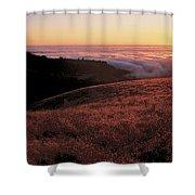 Santa Cruz Mountains At Sunset Ca Usa Shower Curtain