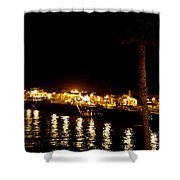 Santa Cruz Pier At Night Shower Curtain