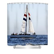 Santa Cruz Sailing Shower Curtain