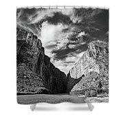 Santa Elena Canyon Black And White Shower Curtain