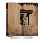 Santa Fe Adobe Window Shower Curtain