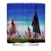 Santa Fe Naional Memorial Cemetery Shower Curtain