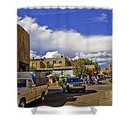 Santa Fe Plaza 2 Shower Curtain
