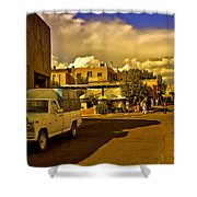 Santa Fe Plaza Shower Curtain