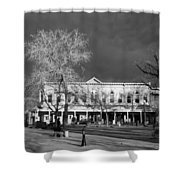 Santa Fe Town Square Shower Curtain