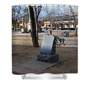 Santa Fe Trail Marker Shower Curtain