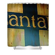Santa Fe Vintage Sign Shower Curtain