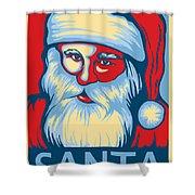 Santa Hope Shower Curtain