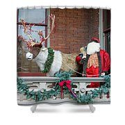 Santa Is Watching You Shower Curtain