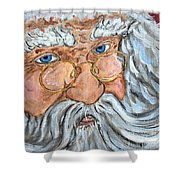 Santa - Merry Christmas Art Shower Curtain
