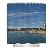 Santa Monica From Pier Shower Curtain