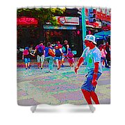 Santa Monica Promenade Shower Curtain