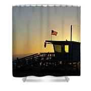 Santa Monica Sunset Shower Curtain