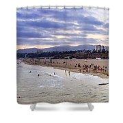 Santa Monica Sunset Panorama Shower Curtain