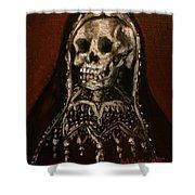 Santa Muerte Holy Death Shower Curtain
