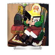 Santa Reads A Story To The Children Shower Curtain