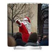 Santa Says Hello Shower Curtain