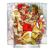 Santa Scene 1 Shower Curtain