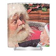 Santa Stars  Shower Curtain