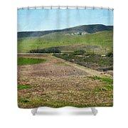 Santa Ynez Mountains Green Hills Ranch Shower Curtain