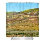 Santa Ynez Mountains Wildflowers Shower Curtain