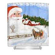 Santas Beard Shower Curtain