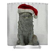 Santa's Little Helper Shower Curtain