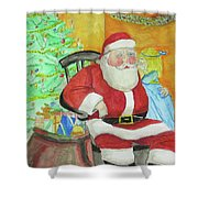 Santas Secret Shower Curtain