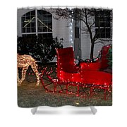 Santa's Sleigh Shower Curtain