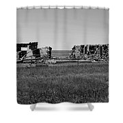 Sante Fe Trail Ghost Shower Curtain