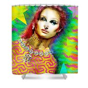 Santhia Aura Shower Curtain
