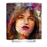 Santia Beauty Face 1062 Shower Curtain