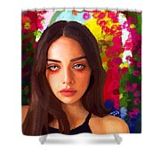 Santia Is Crying 659 Shower Curtain