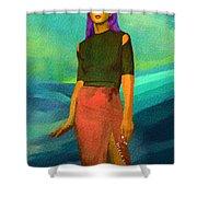 Santia Walking On Water Shower Curtain