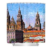 Santiago De Compostela, Cathedral, Spain Shower Curtain
