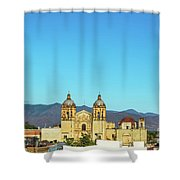 Santo Domingo Church And Hills Shower Curtain