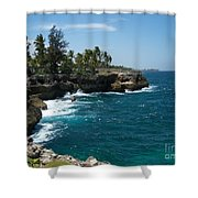 Santo Domingo Coastal View. Shower Curtain