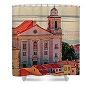 Santo Estevao Church Shower Curtain