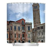 Santo Stefano Venice Leaning Tower Shower Curtain