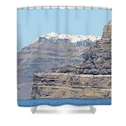 Santorini Fira Shower Curtain
